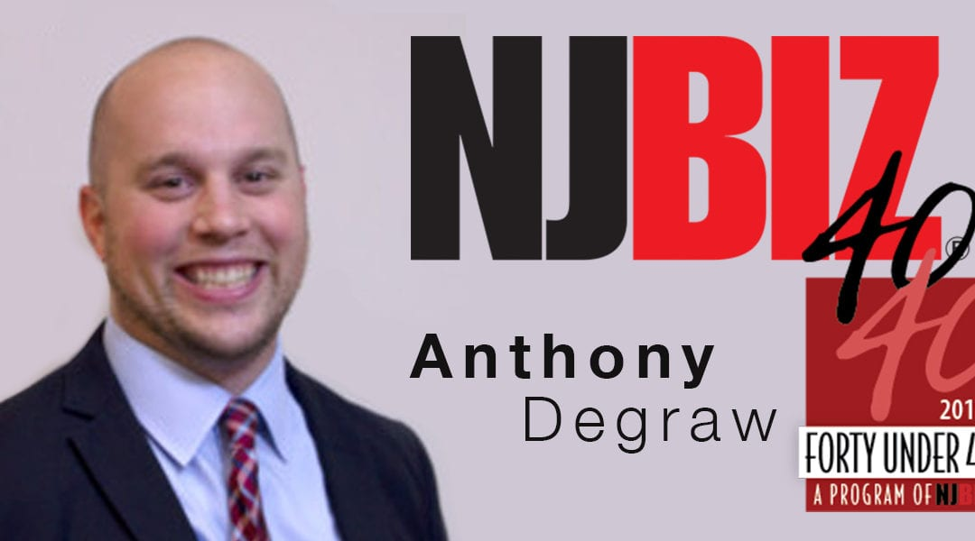 Anthony Degraw NJBIZ 2019 40 Under 40