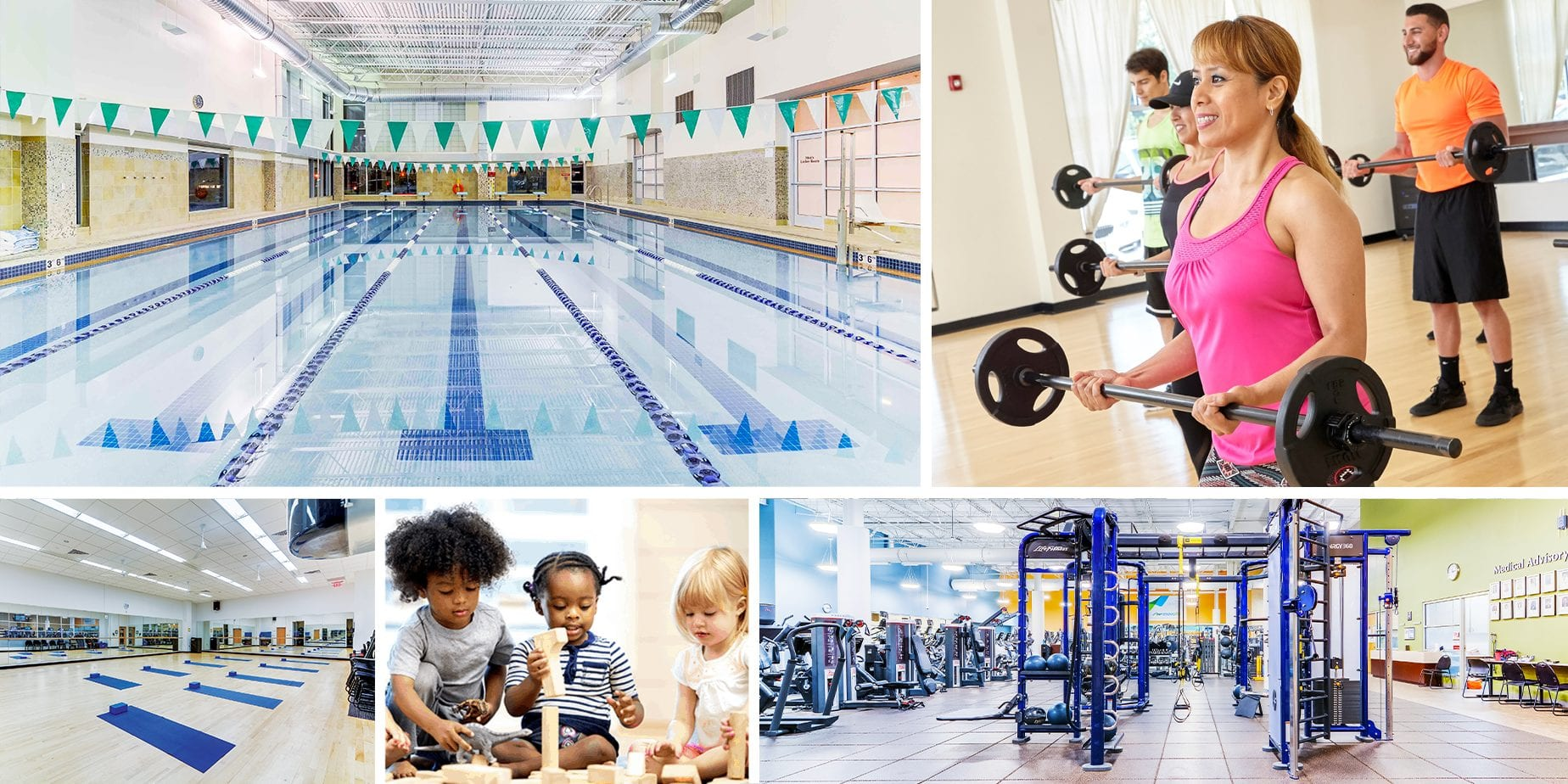 Amenities Collage - CENTRASTATE FITNESS & WELLNESS