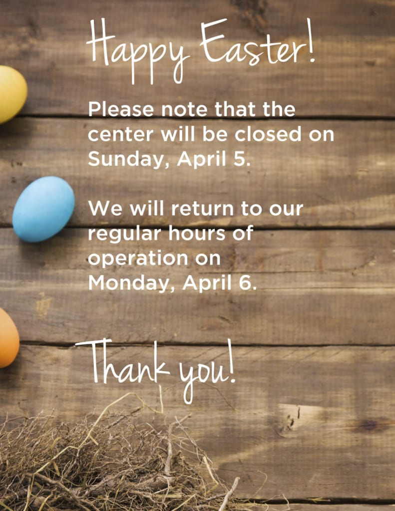 2015 Easter Hours