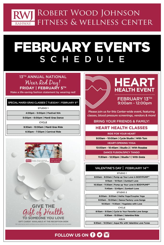 RWJ_Rahway__Fitness_and_Wellness_Center_February_2016_Events