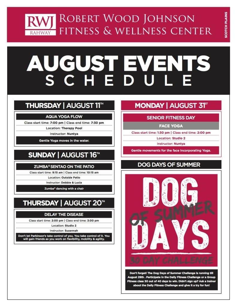 Rahway August 2015 Events