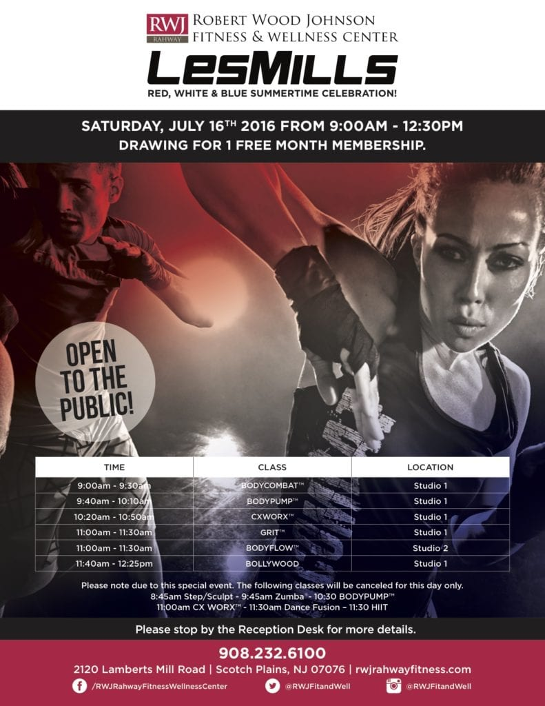 Rahway Les Mills Launch July 2016