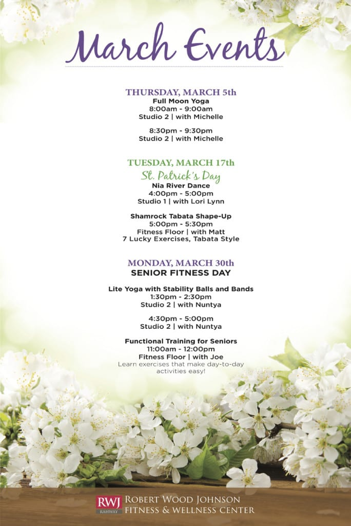 Rahway March 2015 Events