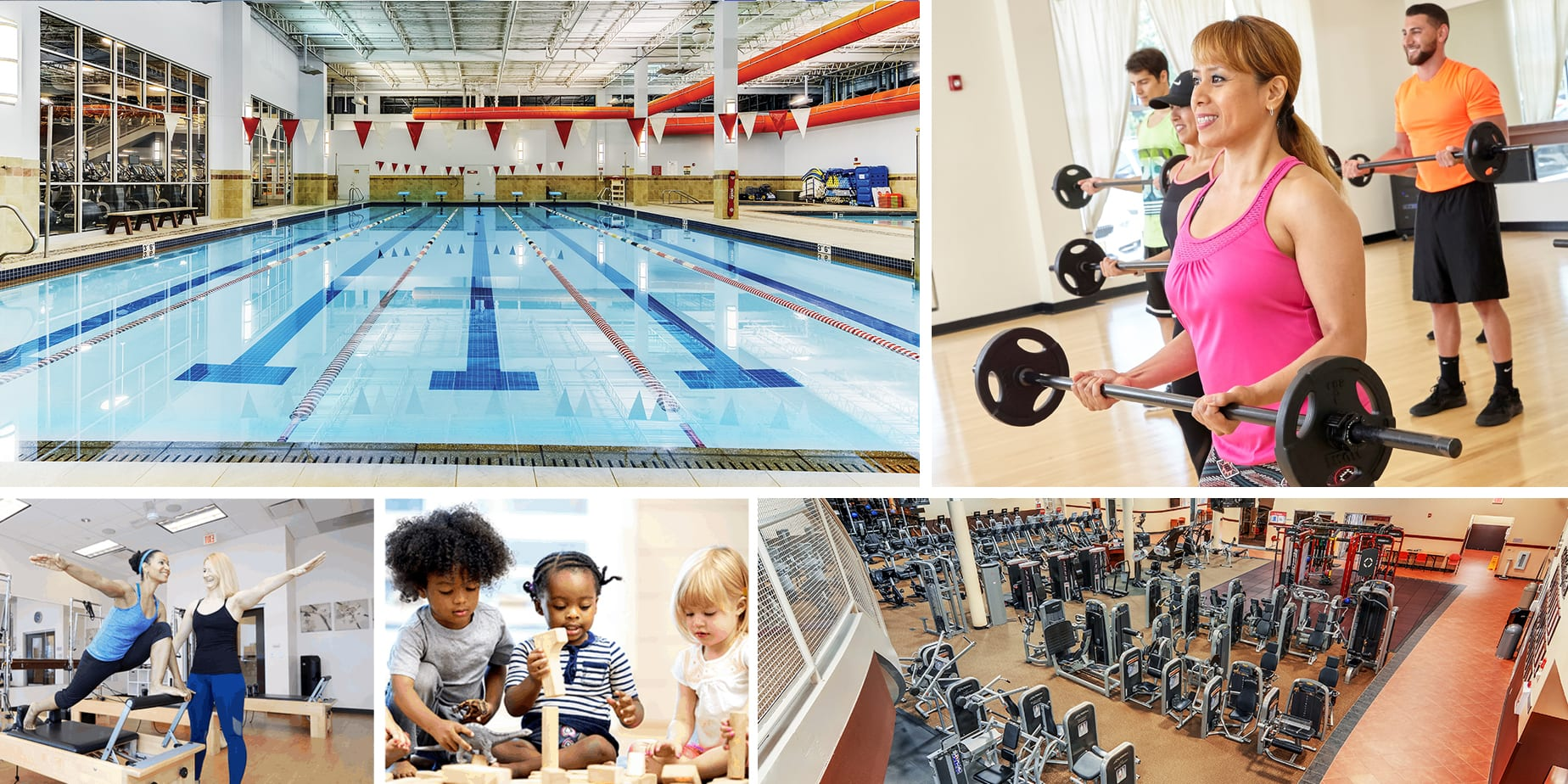 Amenities Collage - RWJ FITNESS & WELLNESS - RAHWAY