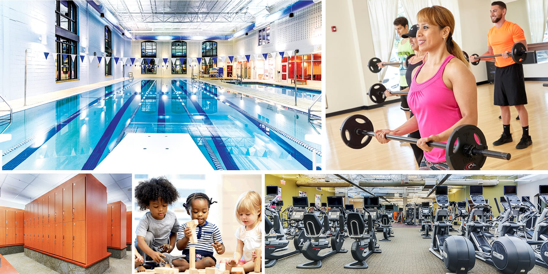 Amenities Collage - RWJ RAHWAY FITNESS & WELLNESS AT CARTERET