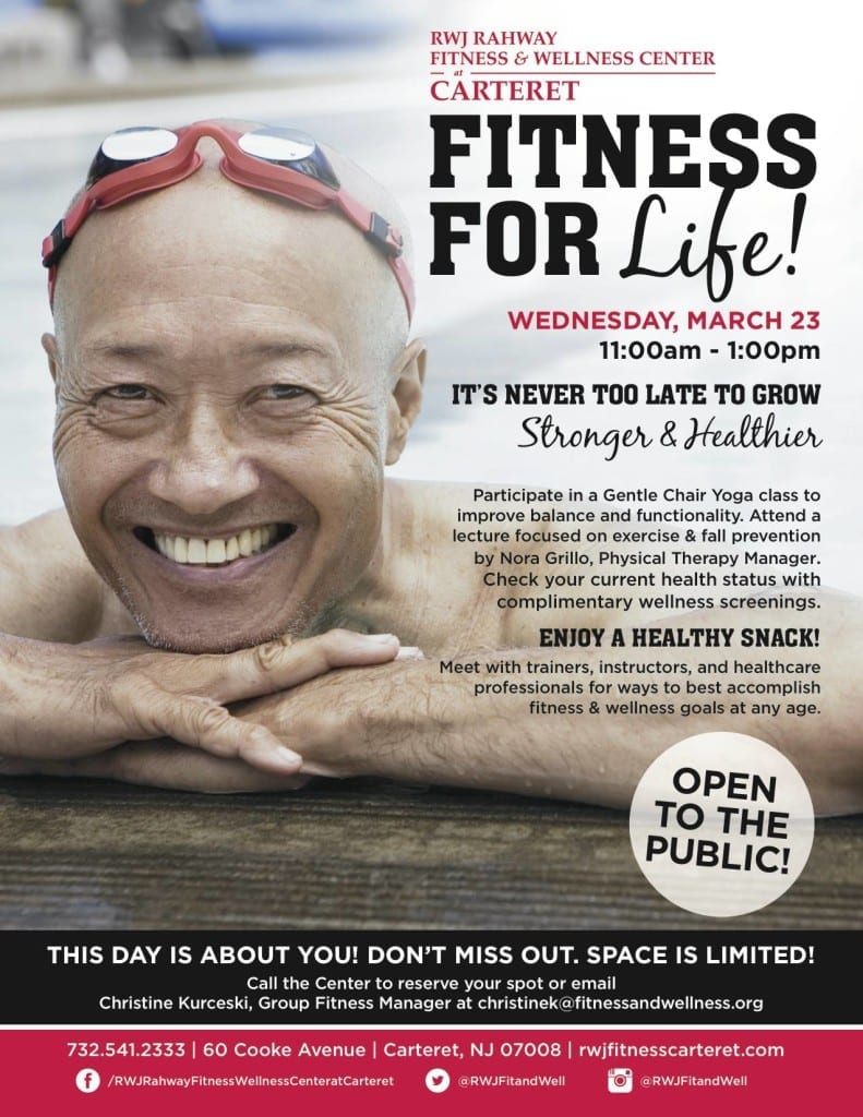 Fitness-for-Life-Wednesday-March-23-RWJ-Rahway-Fitness-Wellness-Center-at-Carteret