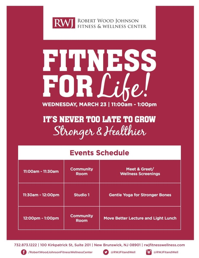 New Brunswick Fitness for Life Event Schedule