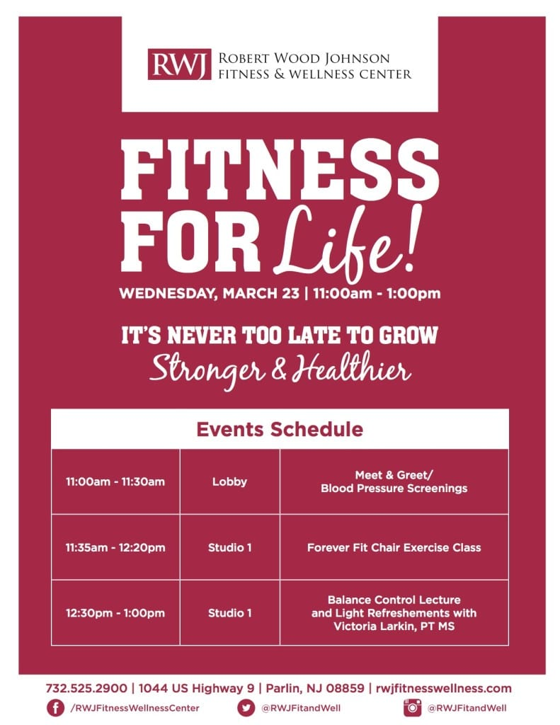 Old Bridge Fitness for Life Event Schedule