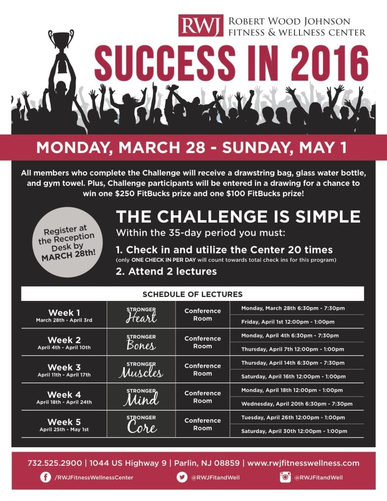 Success in 2016 at RWJ Fitness & Wellness Center Old Bridge